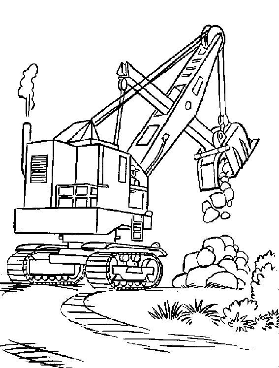 Coloriage grue chantier dessin gratuit imprimer - Dessin de camion a imprimer ...