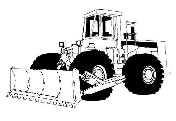 Coloriage et dessins gratuits Illustration Bulldozer pour travaux à imprimer