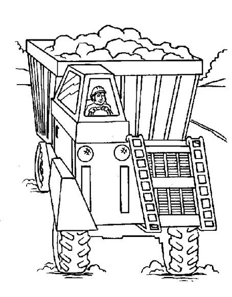 Coloriage et dessins gratuits Le Camion de Chantier CAT à imprimer