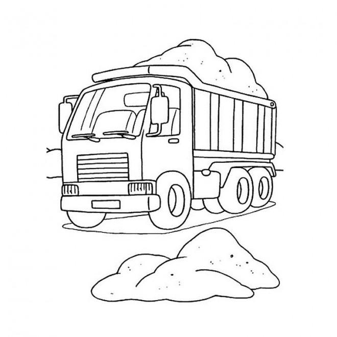 Coloriage et dessins gratuits Le Camion et le Chantier à télécharger à imprimer