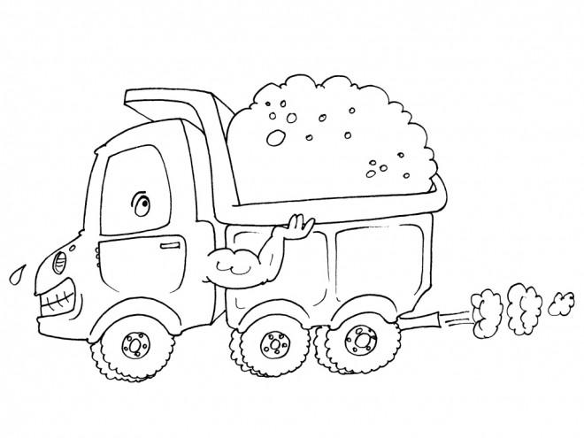 Coloriage et dessins gratuits Le Camion Fort à imprimer