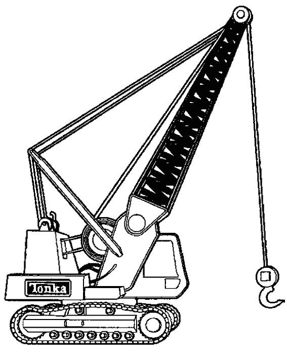 Coloriage et dessins gratuits Pelle mécanique à imprimer