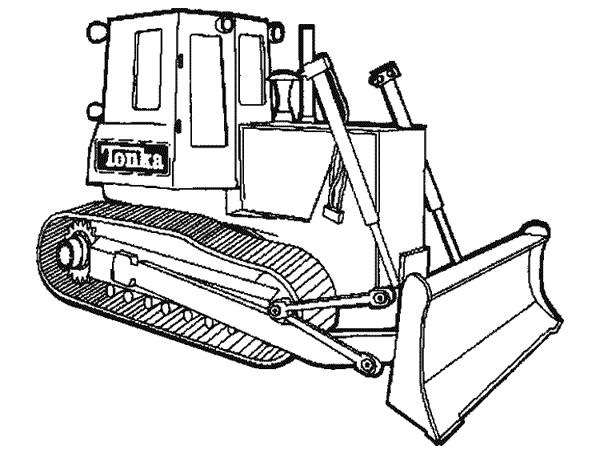 Coloriage et dessins gratuits Pelle mécanique couleur à imprimer