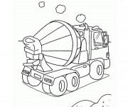 Coloriage Un petit Camion bétonnière