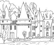Coloriage et dessins gratuit château à colorier à imprimer