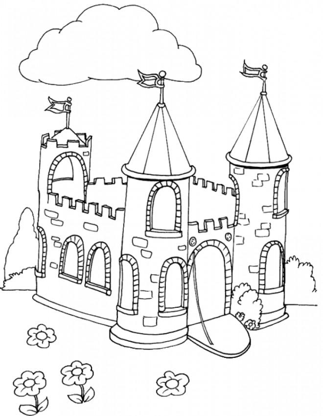 Coloriage ch teau d couper dessin gratuit imprimer - Coloriage a decouper ...