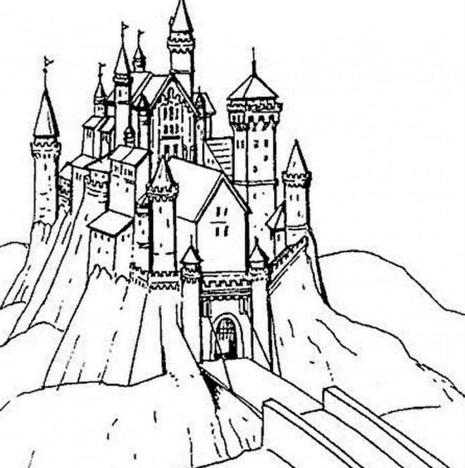 Coloriage Chateau Adorable Dessin Gratuit A Imprimer