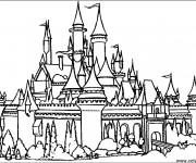 Coloriage et dessins gratuit château ancien à imprimer