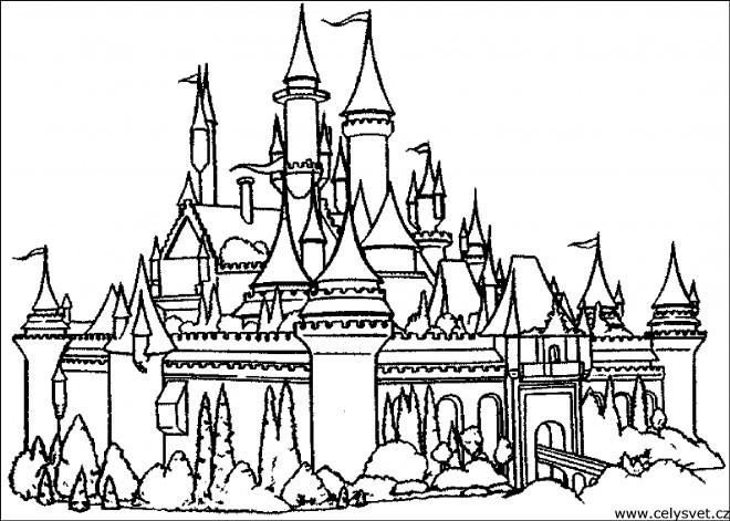 Coloriage Image Chateau.Coloriage Chateau Ancien Dessin Gratuit A Imprimer