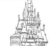 Coloriage et dessins gratuit château couleur à imprimer