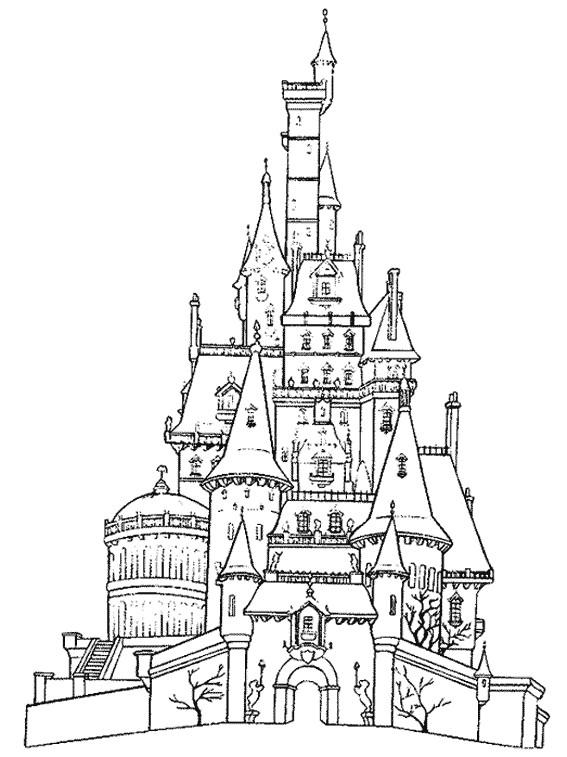 Coloriage et dessins gratuits château couleur à imprimer