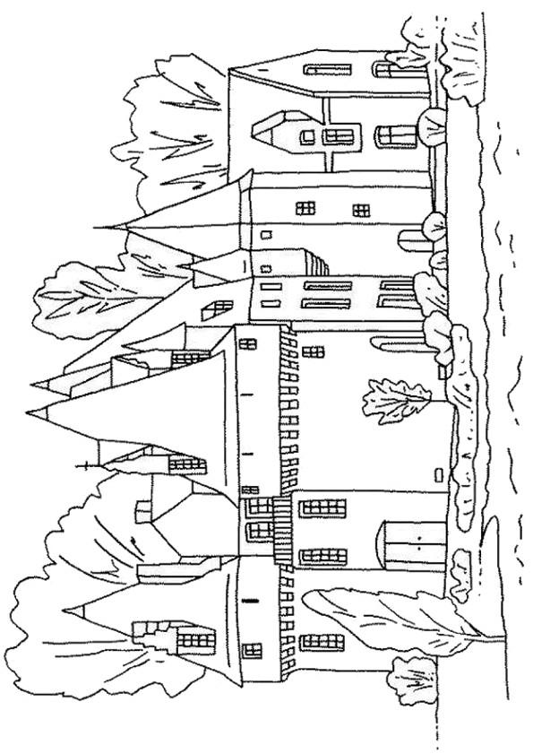 Coloriage et dessins gratuits Château de moyen âge à imprimer