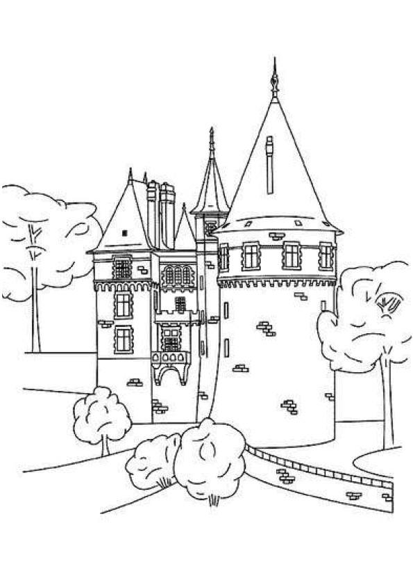 Coloriage Château de Prince dessin gratuit à imprimer