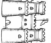 Coloriage et dessins gratuit Château de Sable magnifique à imprimer