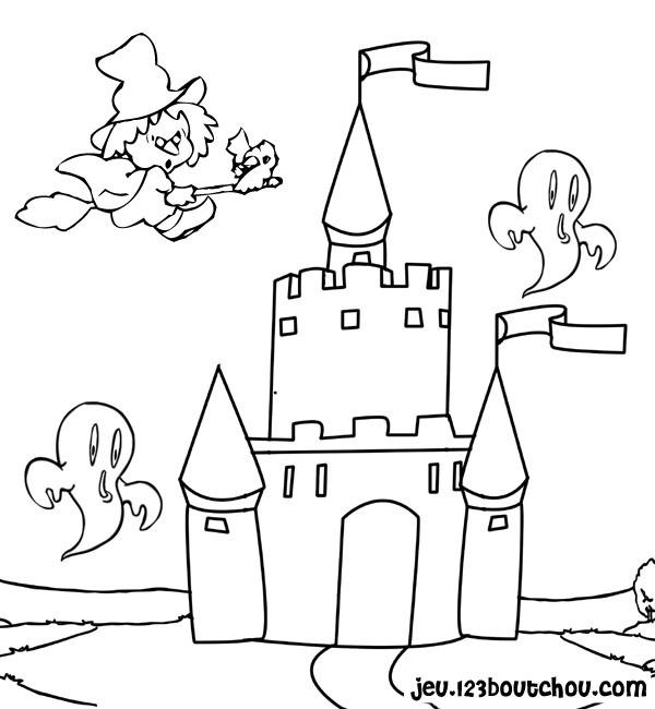 Coloriage Chateau Sorciere.Coloriage Chateau De Sorciere Dessin Gratuit A Imprimer
