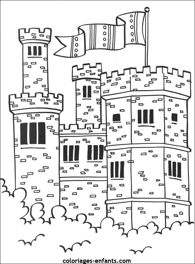 Coloriage Chateau Disney A Imprimer.Coloriage Chateau Disney Dessin Gratuit A Imprimer