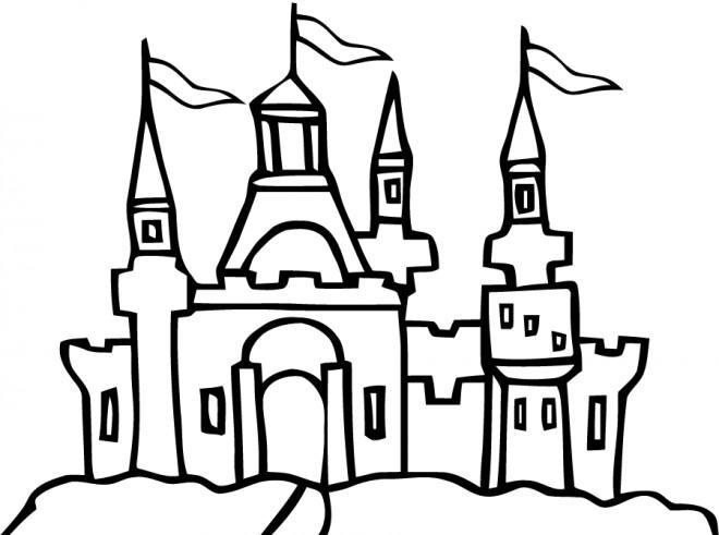 Coloriage et dessins gratuits Château du Royaume à imprimer