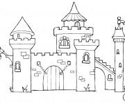Coloriage et dessins gratuit château en ligne à imprimer