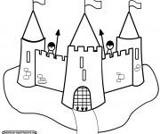 Coloriage et dessins gratuit Château et ses gardes à imprimer