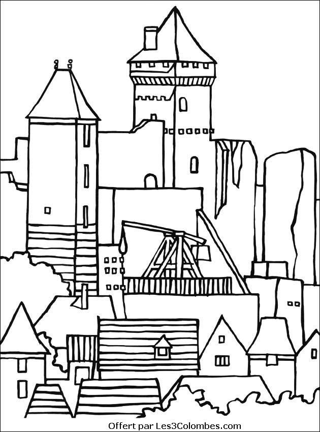 Coloriage et dessins gratuits Château merveilleux à imprimer