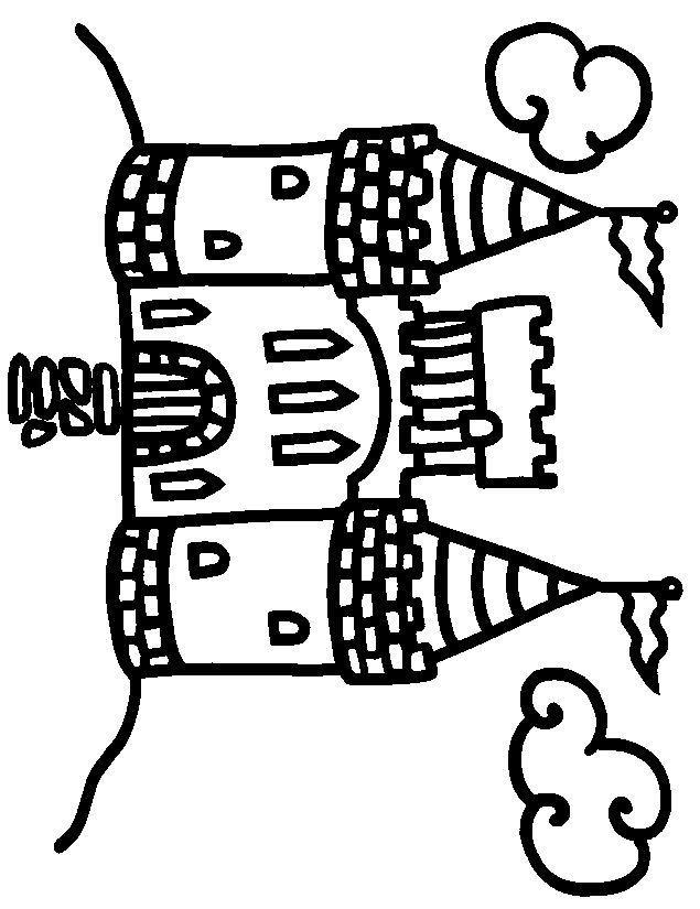 Coloriage et dessins gratuits Château miniature à imprimer