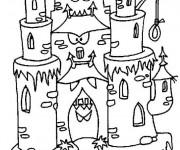 Coloriage et dessins gratuit château qui fait peur à imprimer