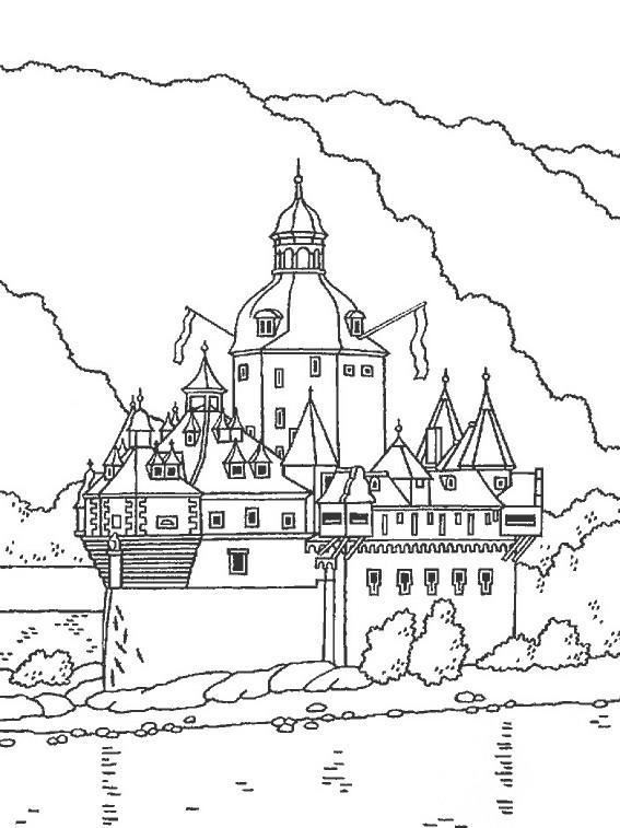Coloriage et dessins gratuits Château qui touche le ciel à imprimer