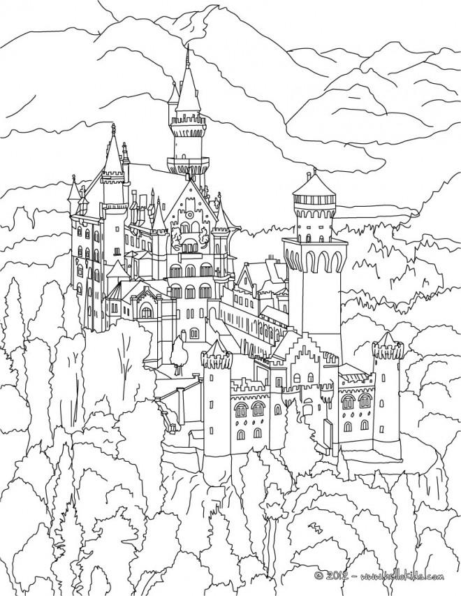Coloriage et dessins gratuits Château splendide à imprimer