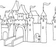 Coloriage dessin  Chateaux 2