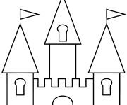 Coloriage et dessins gratuit Châteaux facile à imprimer
