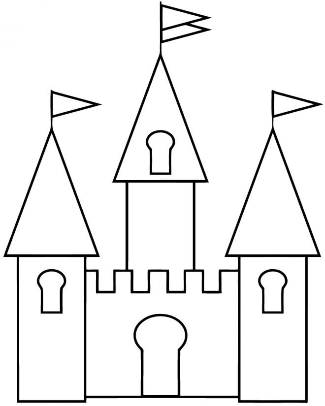 Coloriage et dessins gratuits Châteaux facile à imprimer