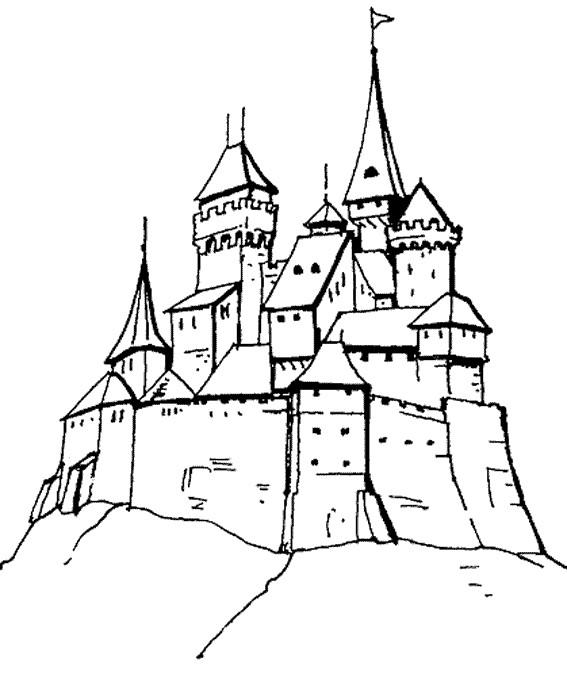 Coloriage et dessins gratuits Châteaux pour adulte à imprimer