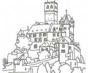 Coloriage Un Grand Château en France
