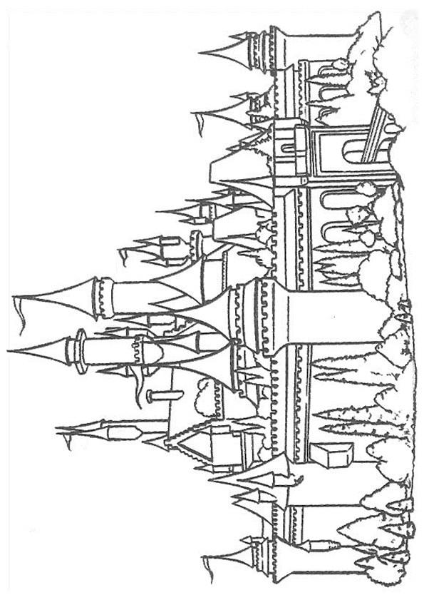 Coloriage et dessins gratuits Un Palais Royale à imprimer