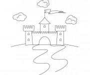 Coloriage et dessins gratuit Un petit château à imprimer