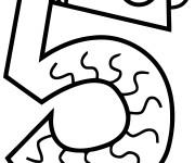 Coloriage Chiffre Cinq pour enfant