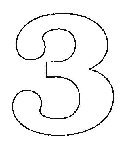 Coloriage et dessins gratuits Chiffre Trois à imprimer