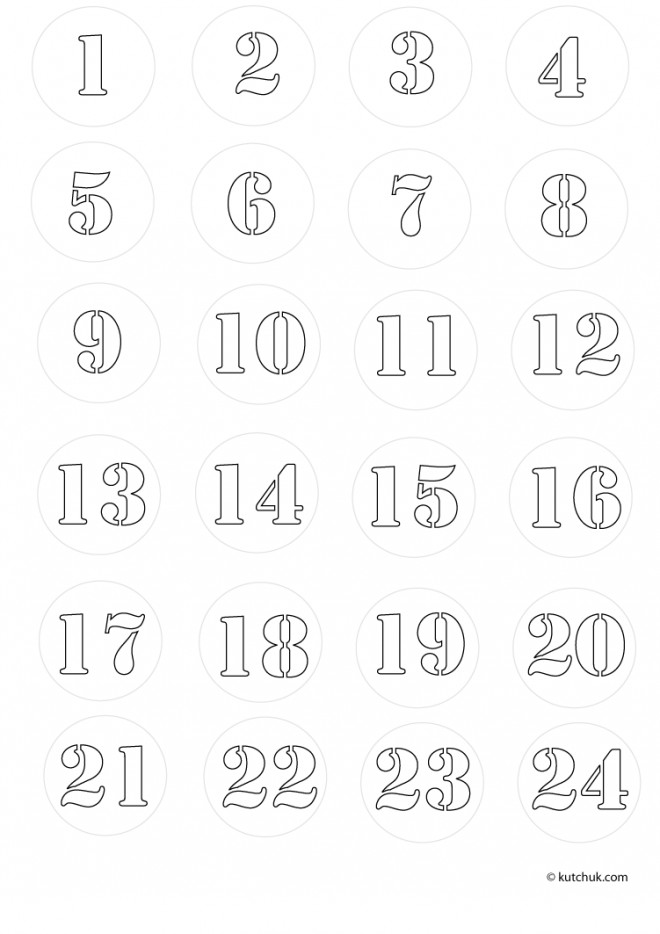 Coloriage Chiffres 1 à 10 à Télécharger