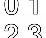 Coloriage Chiffres de 0 à 3