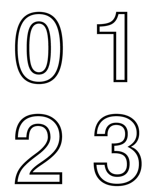 Coloriage chiffres de 0 3 dessin gratuit imprimer - Chiffre a imprimer gratuit ...