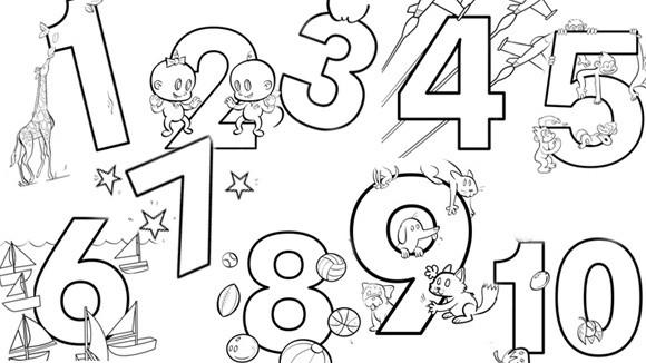 Coloriage chiffres magiques grand format dessin gratuit imprimer - Coloriage grand format ...