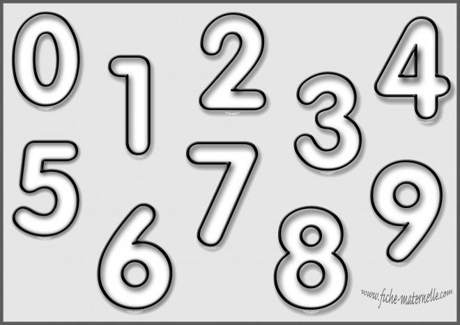 Coloriage gros chiffres dessin gratuit imprimer - Dessin avec des chiffres ...