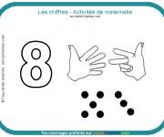 Coloriage Les Chiffres Activités maternelle