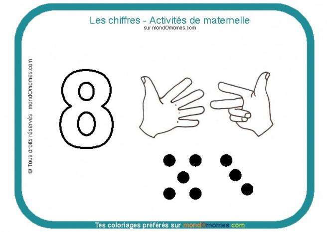 Coloriage et dessins gratuits Les Chiffres Activités maternelle à imprimer