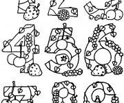 Coloriage et dessins gratuit Rigolo de Chiffres à imprimer
