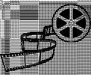 Coloriage Bobine de film en noir et blanc