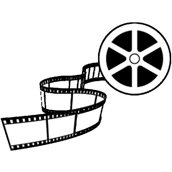 Coloriage et dessins gratuits Bobine de film en noir et blanc à imprimer