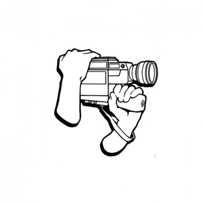 Coloriage et dessins gratuits Caméra de Cinéma à imprimer