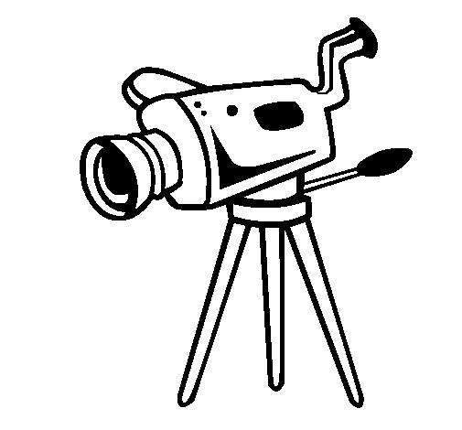 Coloriage Camera Professionnel De Cinema
