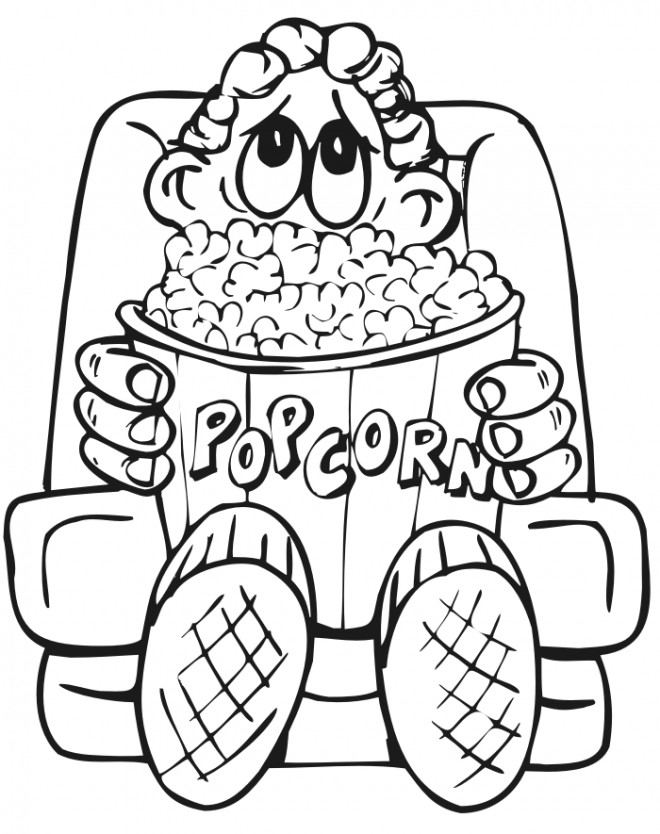 movie theatre coloring pages - photo#17